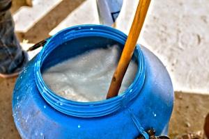 This is the bucket in which they make the airag.